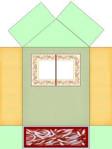 Shema za kućicu od kartona